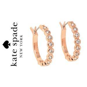 NWT Kate Spade rose gold tone CZ earrings